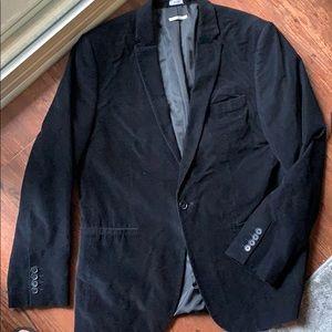 Corduroy Black Blazer
